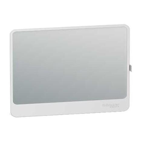Porte Touch miroir pour panneau de contrôle / bloc de commande et coffret de répartition Resi9 - 18 modules - 1 rangée