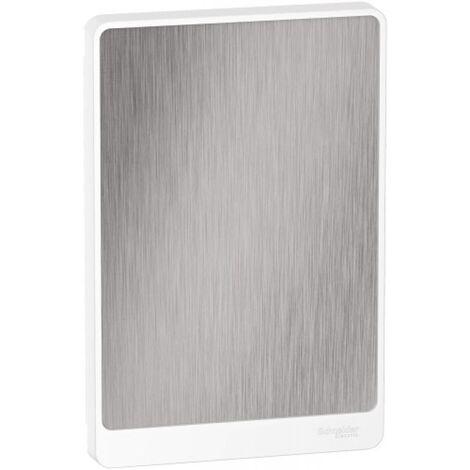 Porte Touch pour coffrets 13 modules Resi9 4 rangées aluminium brossé