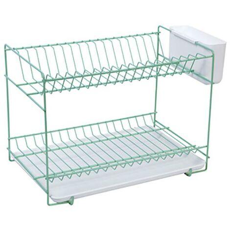 Porte-vaisselle de table 18 assiettes 38,5 X 25 X 28Cm Acier Menta Sauvic 89045
