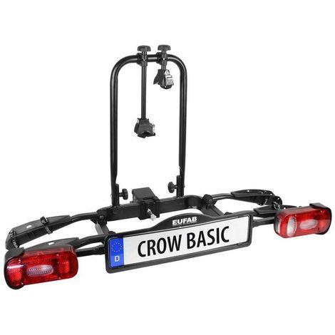 Porte-vélos 2 Vélos Sur Attelage Crow Basic Pliable - Eufab