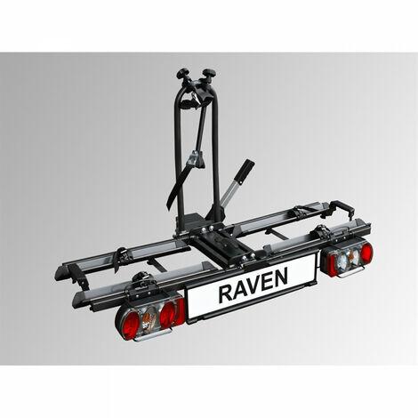 Porte-vélos attelage pliable 2 vélos Eufab Raven