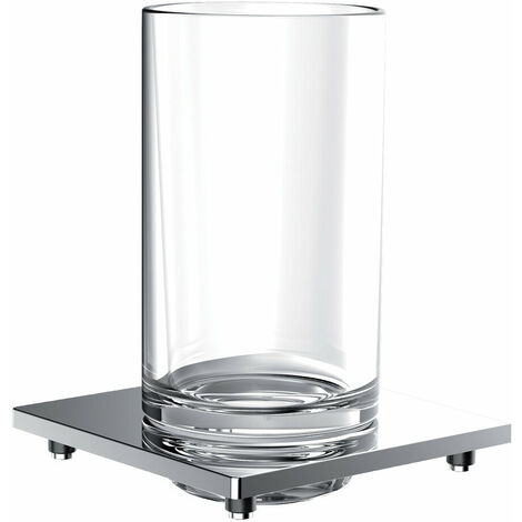 Porte-verre de liaison Emco pour garde-corps, verre cristal clair, chromé - 182000102
