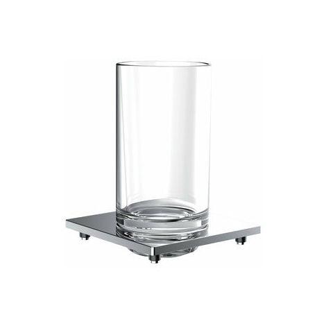 """main image of """"Porte-verre de liaison Emco pour garde-corps, verre cristal clair, chromé - 182000102"""""""