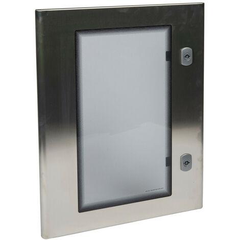 Porte vitree complete pour coffret inox 304l 500x400 (980161)