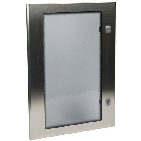 Porte vitree complete pour coffret inox 304l 700x500 (980163)