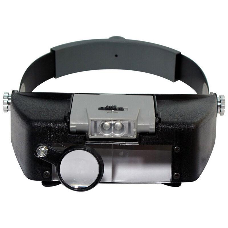 Happyshopping - Porter une loupe avec lumiere LED, evaluer des bijoux, reparer une loupe
