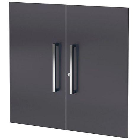 Portes d'armoires X basse Aveto, petit modèle – 2 niveaux - anthracite