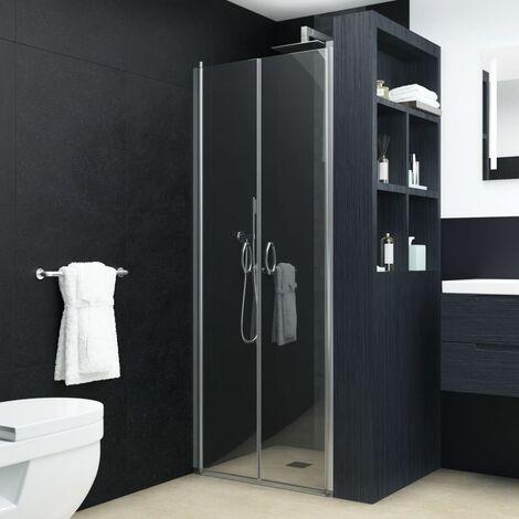 Portes de cabine de douche Transparent ESG 90x180 cm