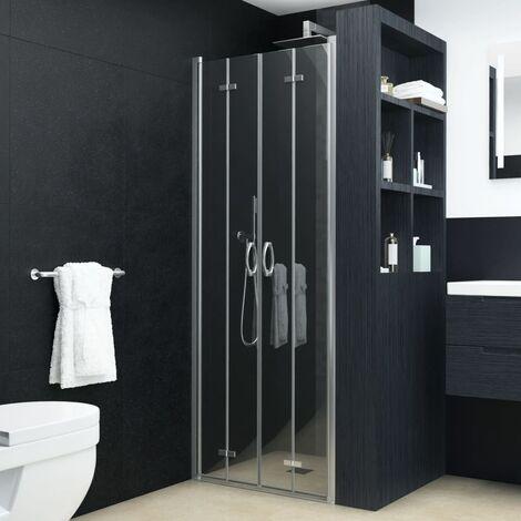 Portes de douche pivotantes-pliantes ESG transparent 90x185 cm