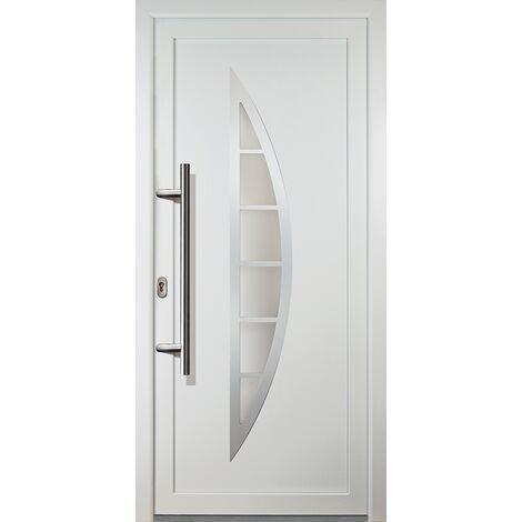 Portes d'entrée aluminium modèle 28, intérieur: blanc, extérieur: blanc