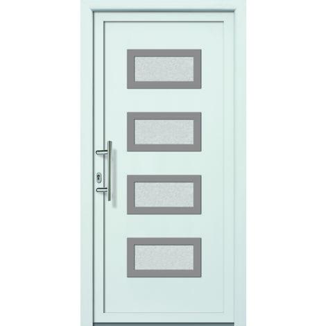 Portes d'entrée aluminium modèle 492A, intérieur: blanc, extérieur: blanc