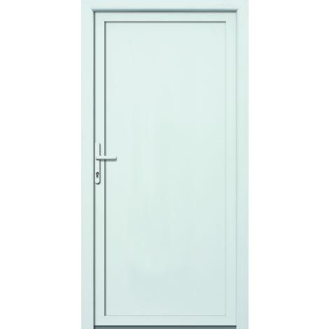 Portes d'entrée aluminium/PVC modèle 401, intérieur: blanc, extérieur: blanc