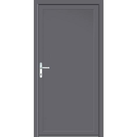 Portes D Entree Aluminium Pvc Modele 401 Interieur Titane