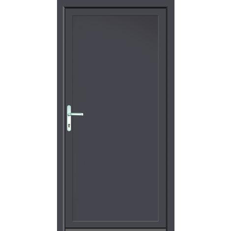 Portes d'entrée aluminium/PVC modèle 401, intérieur: titane, extérieur: titane