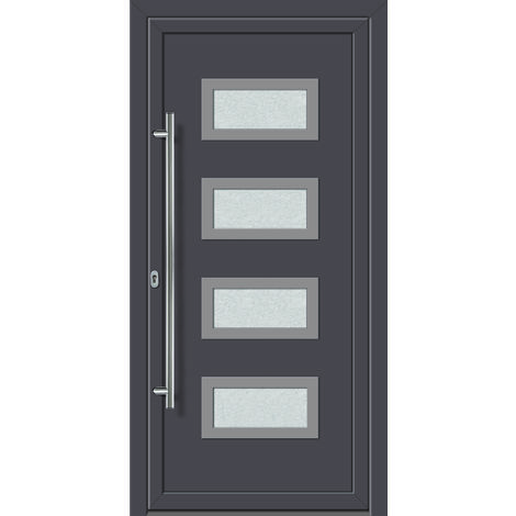 Portes D Entree Aluminium Pvc Modele 492 Interieur Titane