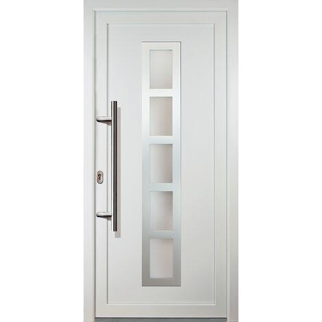 Portes d'entrée classique modèle 51, intérieur: blanc, extérieur: blanc