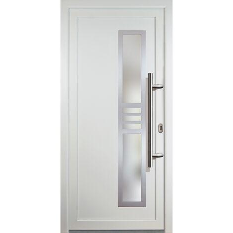 Portes d'entrée classique modèle 53, intérieur: blanc, extérieur: blanc