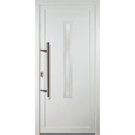 Portes d'entrée classique modèle 70, intérieur: blanc, extérieur: blanc