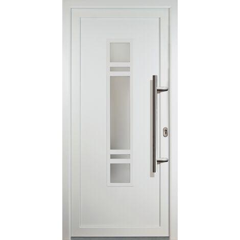 Portes d'entrée classique modèle 83, intérieur: blanc, extérieur: blanc