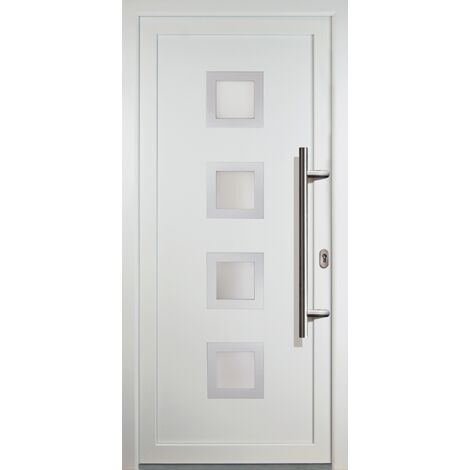 Portes d'entrée classique modèle 84, intérieur: blanc, extérieur: blanc