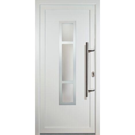 Portes d'entrée classique modèle 87, intérieur: blanc, extérieur: blanc