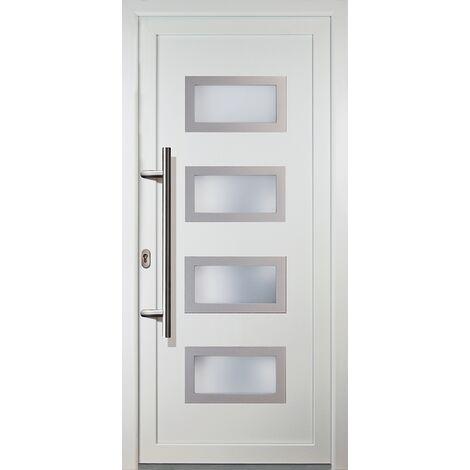 Portes d'entrée classique modèle 92, intérieur: blanc, extérieur: blanc
