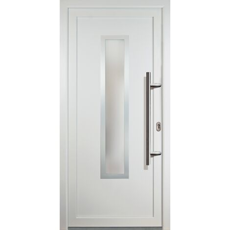 Portes d'entrée classique modèle C1, intérieur: blanc, extérieur: blanc
