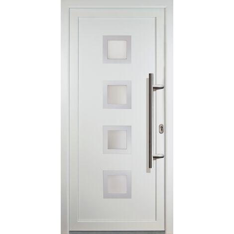 Portes d'entrée classique modèle C18, intérieur: blanc, extérieur: blanc