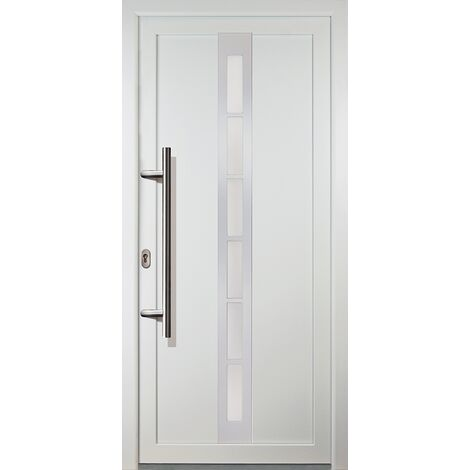 Portes d'entrée classique modèle C22, intérieur: blanc, extérieur: blanc