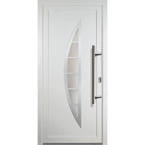 Portes d'entrée classique modèle C23, intérieur: blanc, extérieur: blanc
