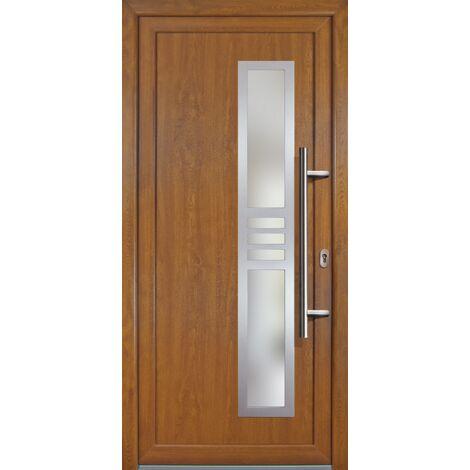 Portes d'entrée Exklusiv modèle 53, intérieur: blanc, extérieur: golden oak