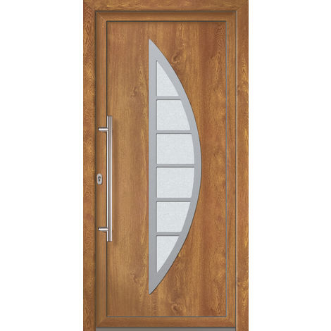 Portes d'entrée Exklusiv modèle 828, intérieur: blanc, extérieur: golden oak