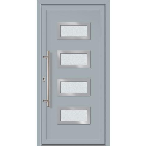 Portes d'entrée Exklusiv modèle 892, intérieur: gris, extérieur: gris