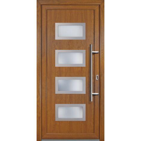 Portes d'entrée Exklusiv modèle 92, intérieur: blanc, extérieur: golden oak