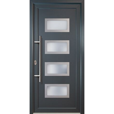 Portes d'entrée Exklusiv modèle 92, intérieur: blanc, extérieur: titan