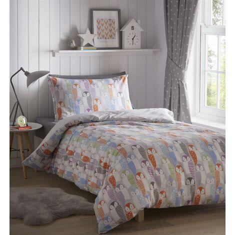 Portfolio Owls Double Duvet Cover Set Bed Linen Childrens Bedroom