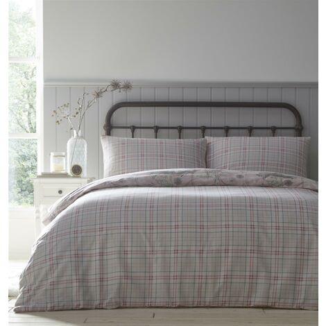 Portfolio Rabbit Meadow Blush Single Duvet Cover Set Reversible Bedding Bed Set