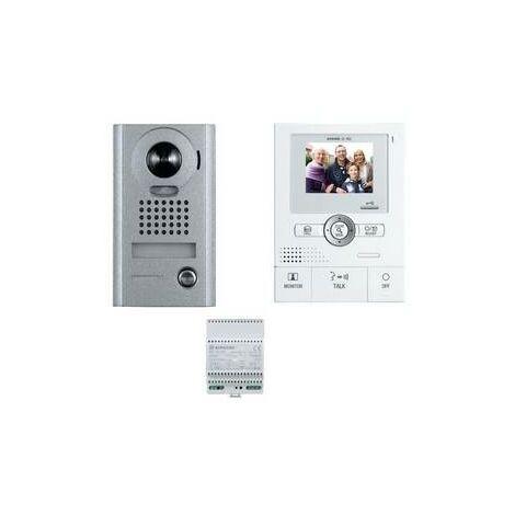 Portier kit video couleur Aiphone mains libres grand angle Encastré ou en saillie