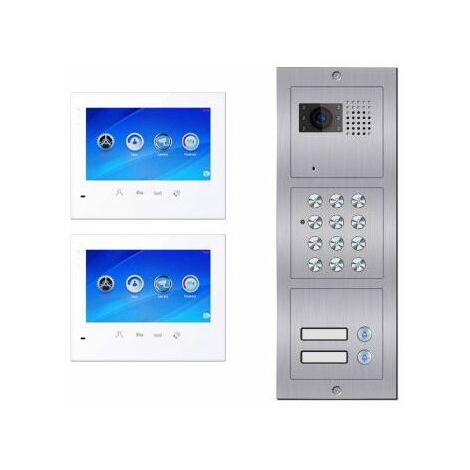 Portier vidéo à code 2 logements C602 BUS