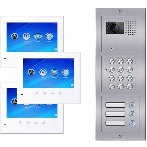 Portier vidéo à code 3 logements C603 BUS