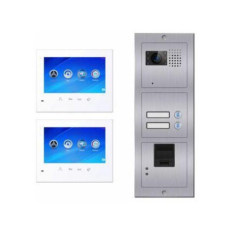 Portier vidéo biométrique 2 logements E602 BUS