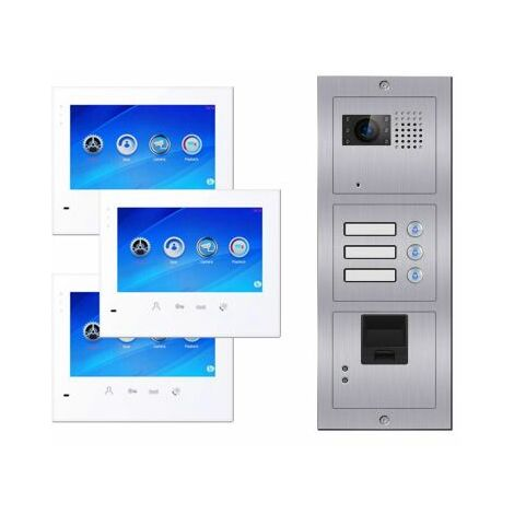 Portier vidéo biométrique 3 logements E603 BUS