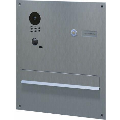 Portier vidéo encastrable avec boite aux lettres intégrée Doorbird D203 - Gris