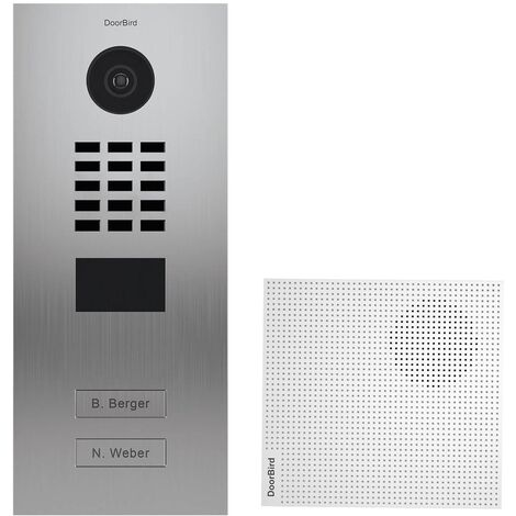 Portier vidéo IP 2 sonnettes + Carillon - D2102V EAU SALEE KIT 1 Doorbird - Inox
