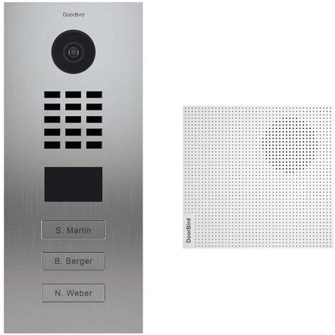 Portier vidéo IP 3 sonnettes + Carillon - Doorbird D2103V Inox - Inox