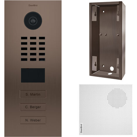 Portier vidéo IP 3 sonnettes - Doorbird D2103BV Bronze - Bronze