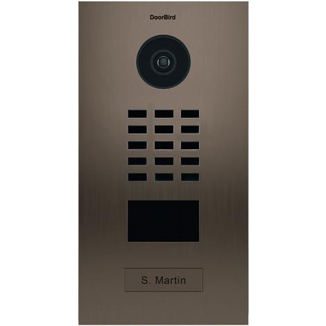 Portier vidéo IP avec lecteur de badge RFID - Doorbird D2101BV Bronze - Bronze