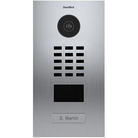 Portier vidéo IP avec lecteur de badge RFID - Doorbird D2101V EAU SALEE Inox - Inox