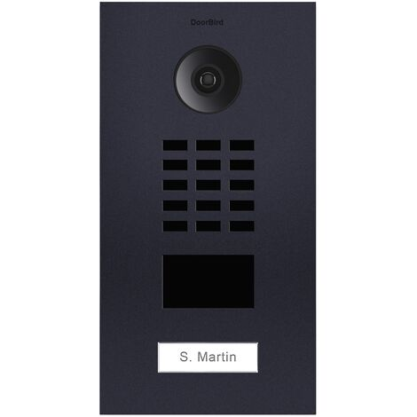 Portier vidéo IP avec lecteur de badge RFID - Doorbird D2101V-RAL7016 - Gris