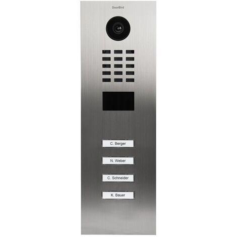 Portier vidéo IP avec lecteur de badge RFID - Doorbird D2104V Inox - Inox